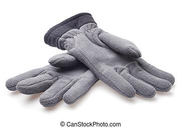 vlies, mann, handschuhe