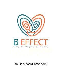 vlinder, abstract, effect, vector, mal, logo, element., pictogram