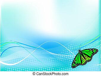 vlinder, achtergrond, abstract