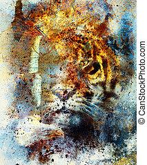 vlinder, adelaar, sinaasappel, achtergrond, structure., kleur, ouderwetse , abstract, color., tiger, gematigd, concept., black , dier, verticaal, witte , wings.., retro, blauwe