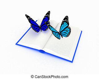 vlinder, boek
