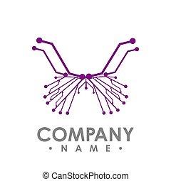 vlinder, circuit, eenvoudig, abstract, vrijstaand, vector, plank, achtergrond, witte , butterfly., pictogram