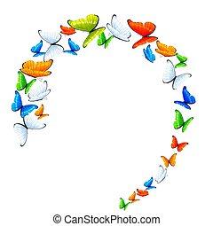 vlinder, cirkel