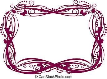 vlinder, elegant, frame
