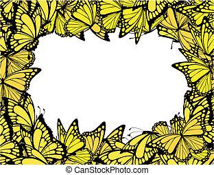 vlinder, frame