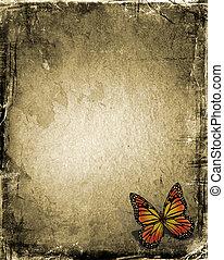 vlinder, grunge