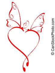 vlinder, hart