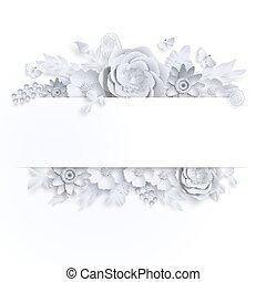 vlinder, kunst, papier, vector, mal, floral, illustation, spandoek, liggen