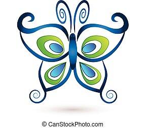 vlinder, logo