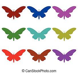 vlinder, set