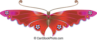 vlinder, stylised