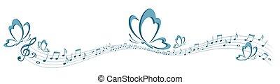 vlinder, symbool, muziek, opmerkingen.