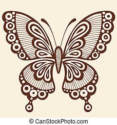 vlinder, vector, ontwerpen basis