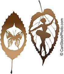 vlinder, verlof, gemaakt, eps