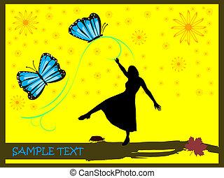 vlinder, vrouwen