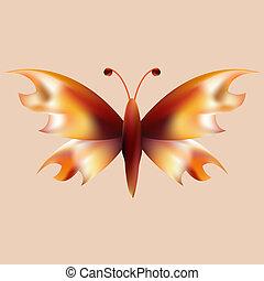 vlinder, vuur, maas, open, vleugels