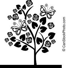 vlinders, baum