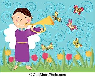 vlinders, engelchen