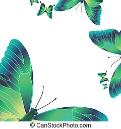 vlinders, grün