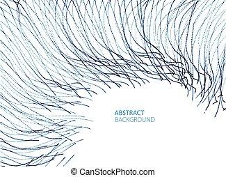 vloeiend, gebogen, illustration., effect, partikels, energie...