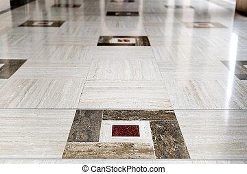 vloer, qaboos, moskee, voornaam, marmer, sultan