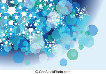 vlok, kerstmis, achtergrond, sneeuw