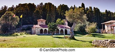 vlora,  Albania,  zvernec, klasztor