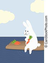 vlot, wortel, konijn