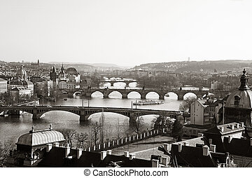 Vltava Bridges Prague