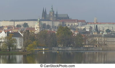 Vltava River Banks View - Vltava river buildings on the...