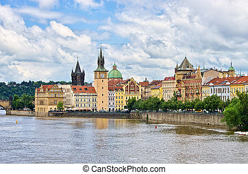 Vltava river in Prague, Czech Republic