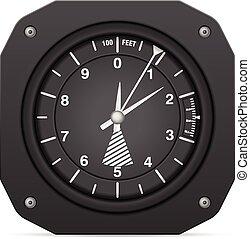 vlucht, instrument, altimeter