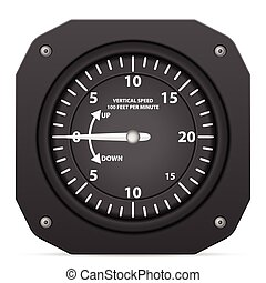 vlucht, instrument, variometer