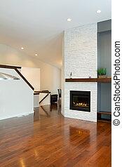 vnitřek navrhovat, o, moderní obývací, místo