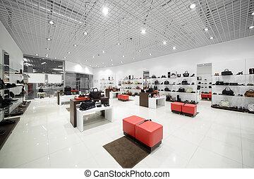 vnitřní, o, okovat nadbytek, do, moderní, evropský, mall