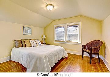 voûté, intérieur, plafond, confortable, chambre à coucher
