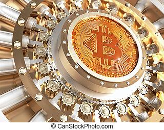 voûte, porte, bitcoin