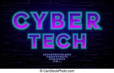 voadores, cyber, cybersport., etiquetas, tech, tipografia, ...