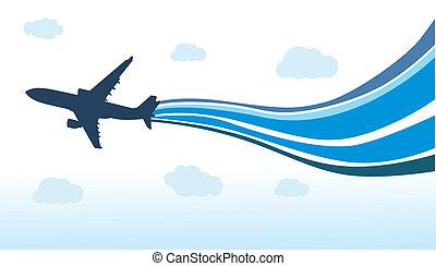 voando, avião