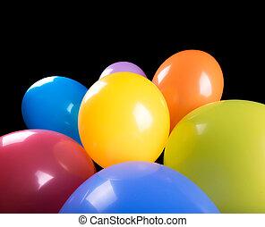voando, balões, isolado