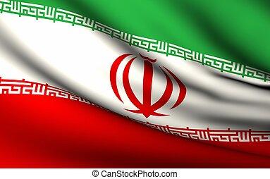 voando, bandeira, de, irã, |, tudo, países, cobrança, |