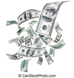 voando, dólares