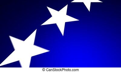 voando, estrelas, 02, azul, (30fps)