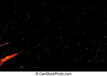 voando, nave espacial