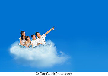 voando, nuvens