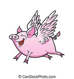 voando, porca