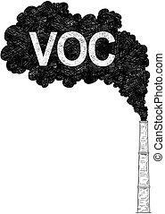 voc, indústria, fábrica, ilustração, ar, vetorial,...
