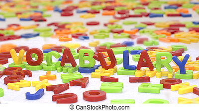 vocabulary - plastic letters
