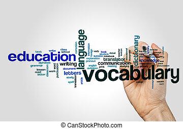 Vocabulary word cloud