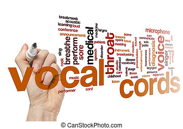 Vocal cords word cloud concept